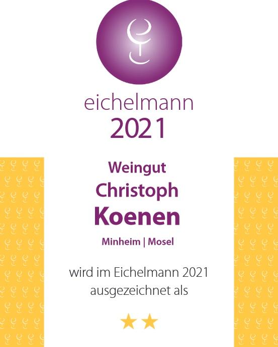 Weingut Koenen - Eichelmann 2021 Auszeichnung