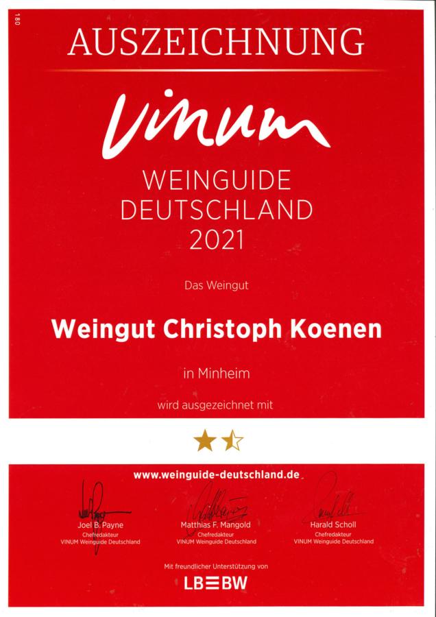 Weingut Koenen - Vinum 2021